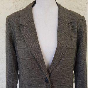kensie Women's Tweed Plaid Blazer